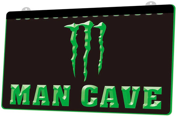 Monster Energy Drink Man Cave Acrylic LED Sign