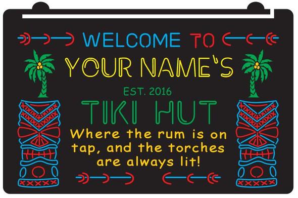 """4 Color Custom """"YOUR NAME'S"""" Tiki Bar LED Sign"""