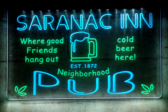 2 Color Custom Home Pub Sign