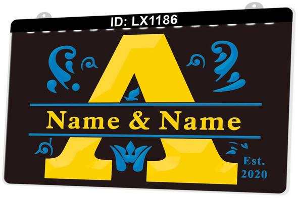 2 Color Custom Acrylic Couples LED Sign