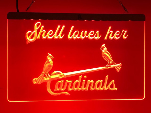 Custom St. Louis Cardinals Acrylic LED Sign