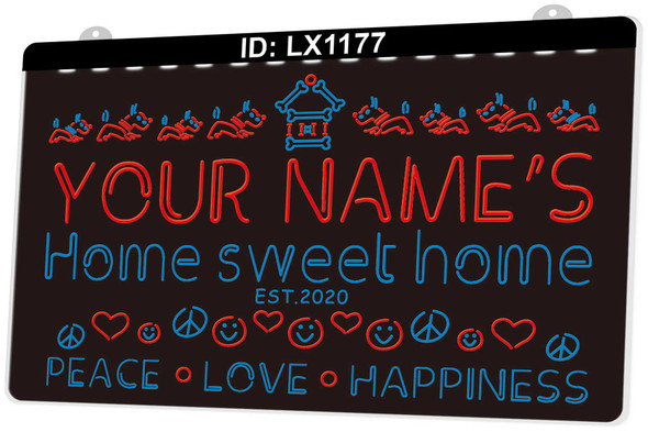 2 Color Custom Home Sweet Home Sign