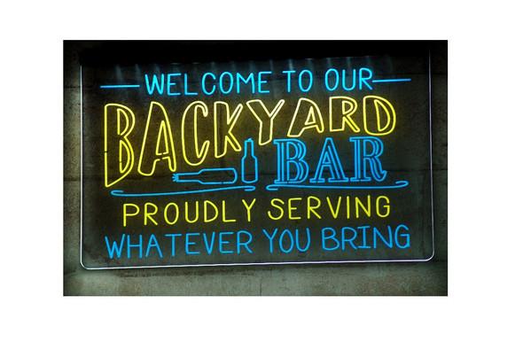 2 Color Backyard Bar Sign