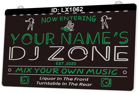 2 Color DJ Zone Custom LED Sign
