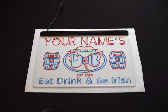 2 Color Traditional Irish PUB Sign