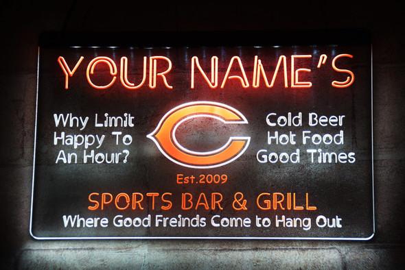 2 Color Sports Bar LED Sign