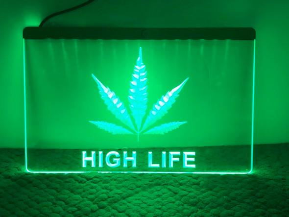 Custom Cannabis Acrylic LED Sign