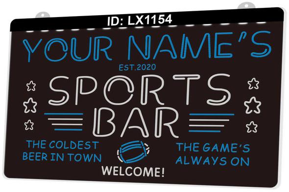 2 Color Custom Sports Bar LED Sign