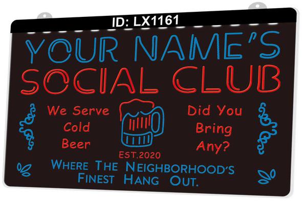 2 Color Custom Social Club LED Sign
