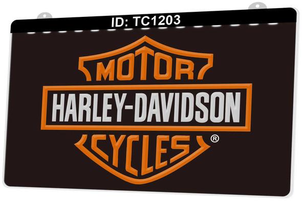Custom 2 Color Harley Davidson LED Sign (B)
