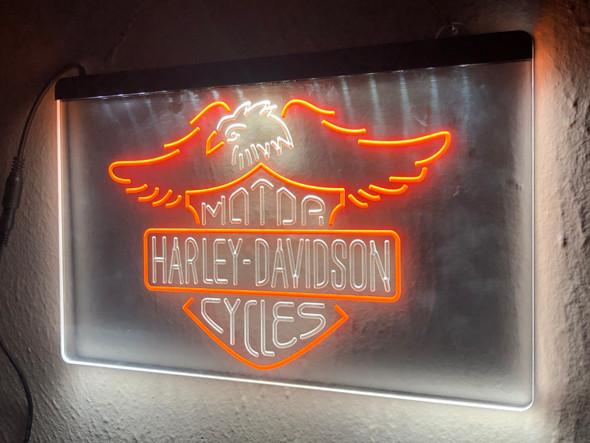 Custom 2 Color Harley Davidson LED Sign (D)