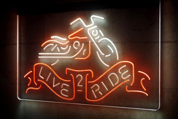 Custom 2 Color Harley Davidson LED Sign