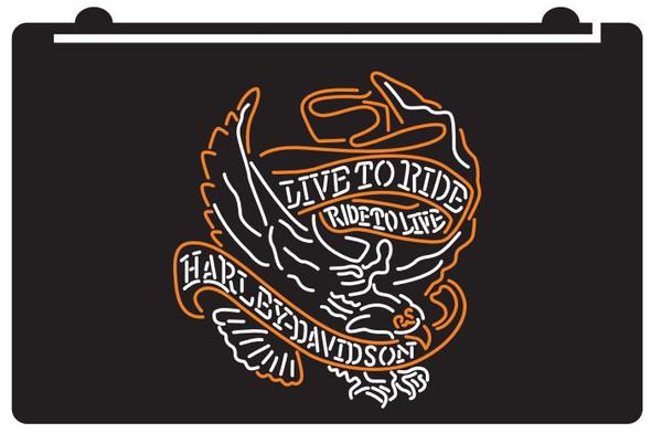 Custom 2 Color Harley Davidson LED Sign (H)