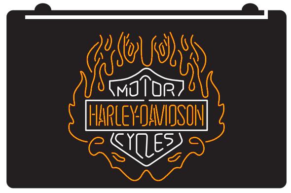 Custom 2 Color Harley Davidson LED Sign (I)