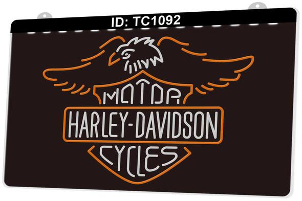 Custom 2 Color Harley Davidson LED Sign (K)