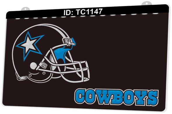 2 Color Custom Dallas Cowboys LED Sign (A)