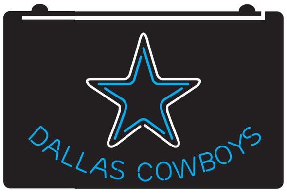 2 Color Custom Dallas Cowboys LED Sign (D)