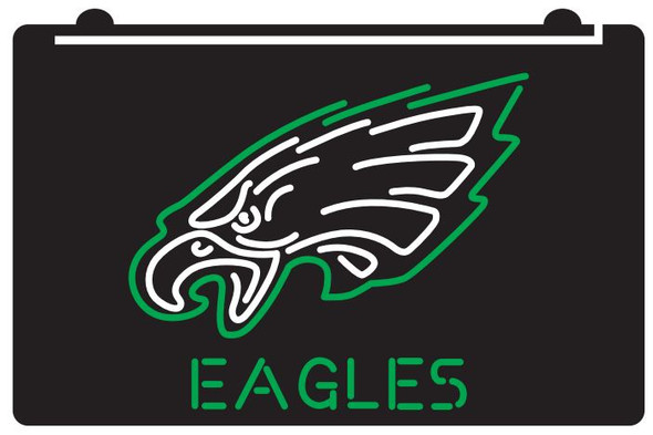 2 Color Custom Philadelphia Eagles LED Sign