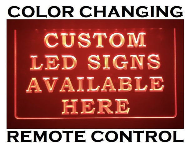 Color Changing Remote Controlled Custom LED Sign