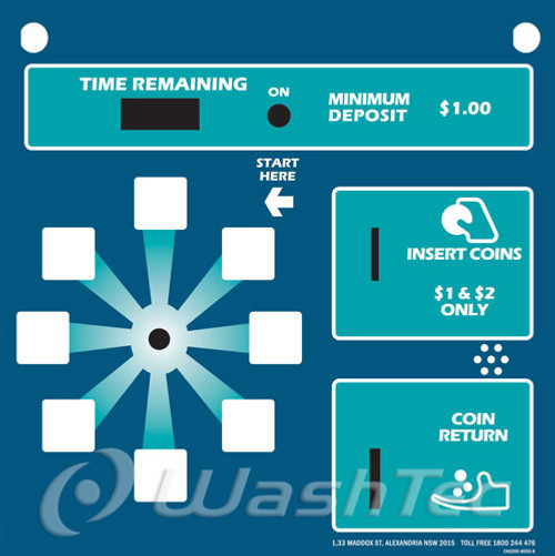 8 Position Coin Box Decal (AquaSpray)
