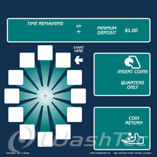 12 Position Coin Box Decal (AquaSpray)