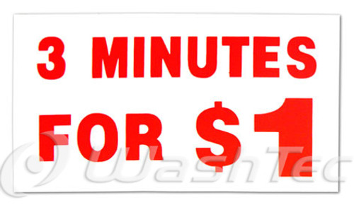 3 Minutes For $1 Decal