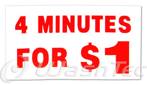 4 Minutes For $1 Decal