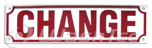 Change Sign (Red/White)