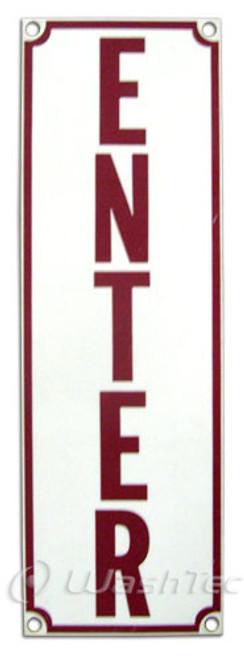 Enter Sign (Red/White)