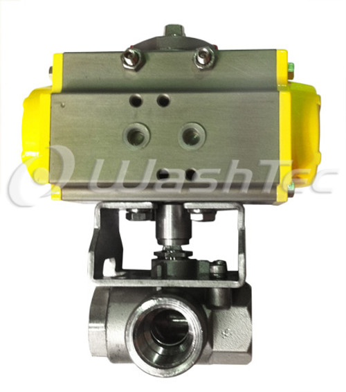 Actuated 3 Way Ball Valve Assembly