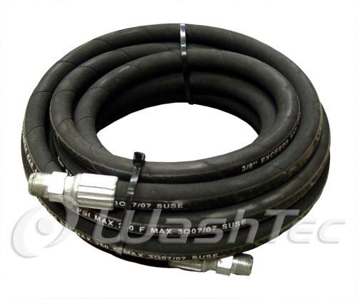 High Pressure Wire Braid Hose - Black (25ft)
