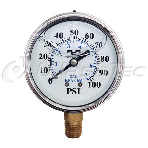 Pressure Gauge (R MOUNT)- 100 PSI