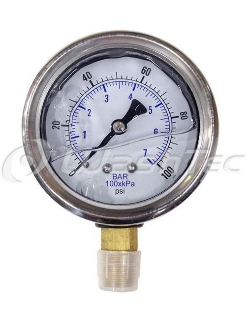 """Pressure Guage (Low Mount) - 1/4"""" - Ginsan **OUT OF STOCK**"""