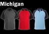 MICHIGAN Polo Shirt - Dark Grey/Black/White