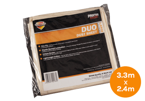 Shield Duo Dust Sheet - 3.3m x 2.4m