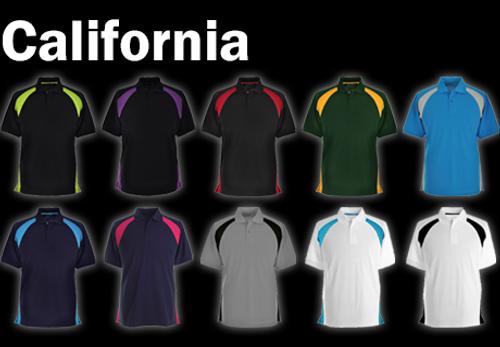 CALIFORNIA Polo Shirt - Navy/Cyan