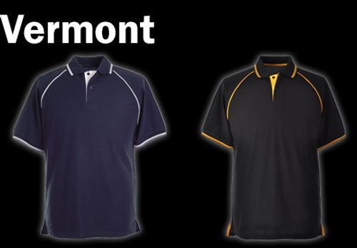 VERMONT Polo Shirt - Navy/White