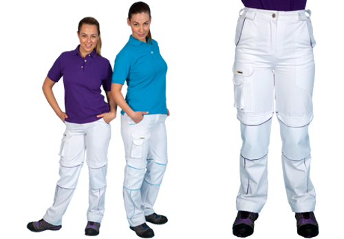 Shield Ladies Trouser - White/Purple