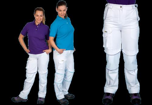 Shield Ladies Trouser - White/Turquoise