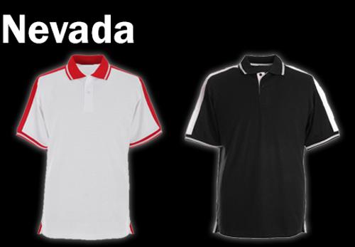 NEVADA Polo Shirt - Black/White