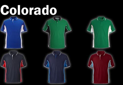 COLORADO Polo Shirt - Navy/Royal/White