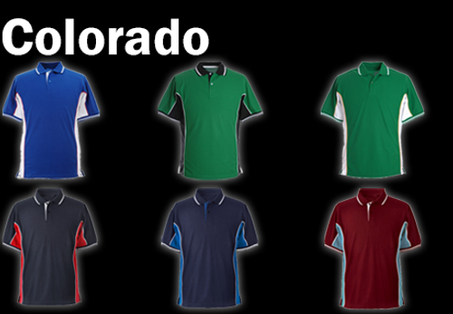 COLORADO Polo Shirt - Emerald Green/Black/White