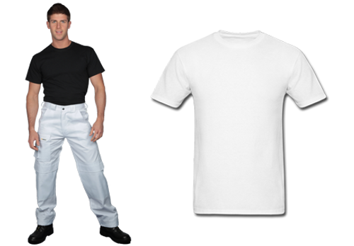 Shield 3 T-Shirts on a Roll - White
