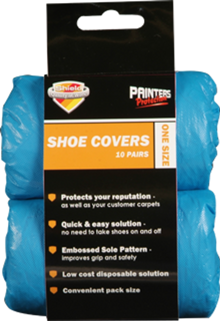Shield Disposable Shoe Covers - Pack of 10 Pairs