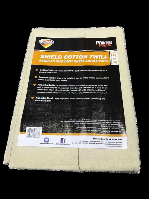 Shield Cotton Dust Sheet - 12' x 9'