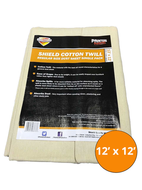 Shield Cotton Dust Sheet - 12' x 12'