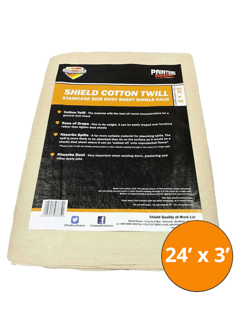 Shield Cotton Dust Sheet 24' x 3'