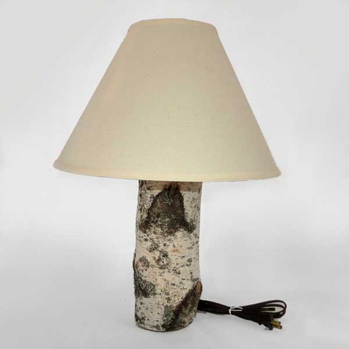 Birch Table Lamp with Shade