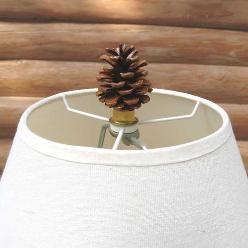 Pine Cone Lamp Finial
