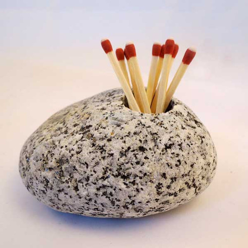 Stone Match Holder and Striker
